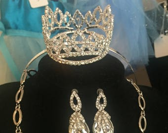 Children's Diamante Crown on a headband