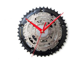 Bike Wall Clock, Industrial Wall Clock, Modern Wall Clock, Unique Wall Clock, Bicycle Wall Clock, Industrial Design Clock, Steampunk Clock
