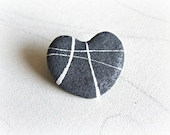 Heart shaped rocks brooch...