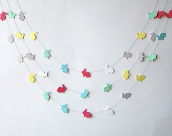 Easter Bunny garland, Bunny garland, Baby shower decorations, Spring garland, Easter bunny banner,  Easter banner,  Easter Decor, KAB-4002