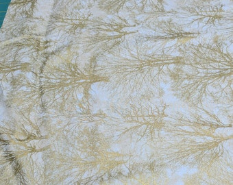 Glistening Trees on Ecru Cotton Fabric from Paintbrush Studios