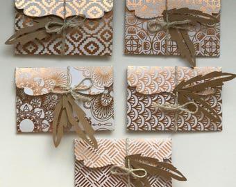 Envelopes / Boho Style / Gift Envelopes / Card Envelopes / Note Envelopes / Mini Envelopes /Decorative Envelopes / Small Envelopes/ Set of 5