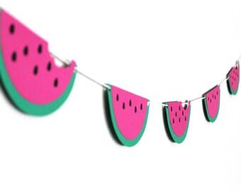 Watermelon Banner - Watermelon Party Decor - Watermelon Garland - Twotti Frutti Decor - Tutti Frutti Decor - Tropical Party Decor