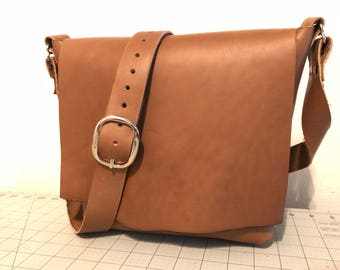 Leather Shoulder Bag, Handcrafted leather bag