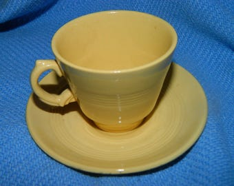 Vintage Pastel Yellow Woods Ware vintage china tea set Jasmine, Cup & Saucer, Easter Egg Yellow, Woods Ware