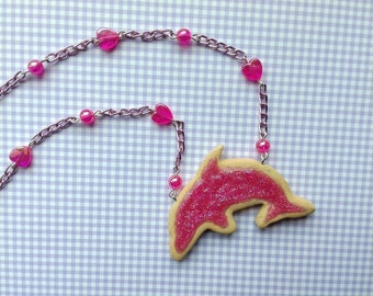 Dolphin Biscuit Necklace / fairy kei