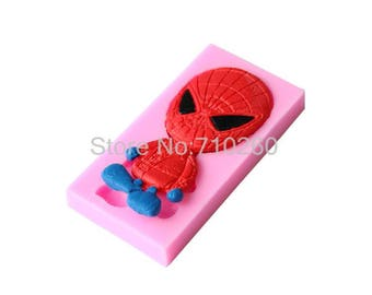 Spiderman silicone mold for fimo paste, polymer paste