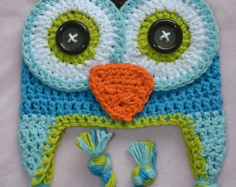 baby hat, animal hat,  owl hat,  baby hat, boys owl hat, crochet kids hat, crochet baby hat, crochet owl hat, baby boy hat, baby animal hat
