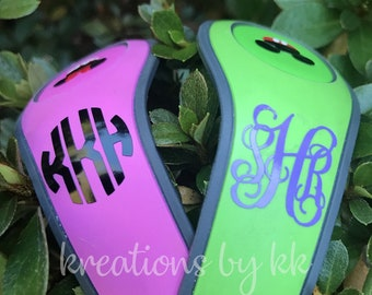 Monogram Decal - Vine or Circle - Walt Disney World -  Magic Band Decals - fits 1.0 and 2.0