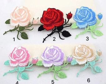 rose patch flower patch flower gorgeous patch applique shoes patch large patch erbroidered patch iron on patch sew on patch