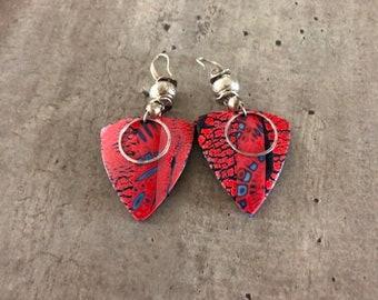 paire de boucles d'oreilles - effet raku - nouvelle collection