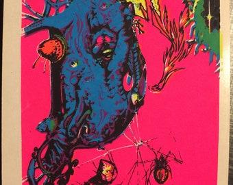 1960s Blacklight Mini Poster SPIDERIA