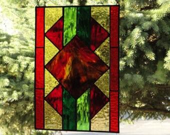 Aztec Design Stain Glass