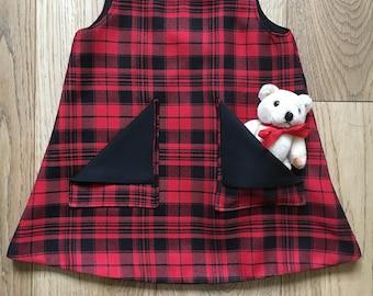 Tartan Alisha Dress /Pinafore girls sizes