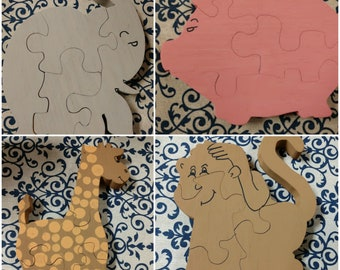 Child's Wooden Animal Puzzle