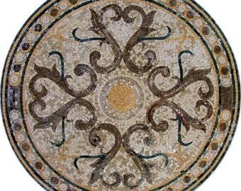 Circular Geometric Mosaic - Faruk