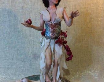 Persefone ooak fantasy art doll by A.C fairy mermaid