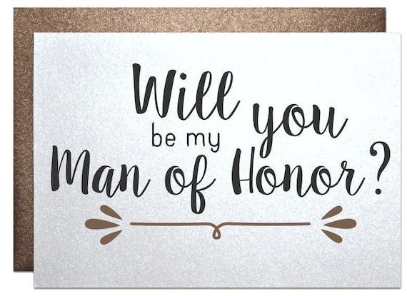Honor Or Honour On Wedding Invitations: Rustic Wedding Man Of Honor Card Wedding Invitation Will