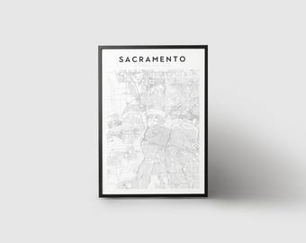 Sacramento Map Print