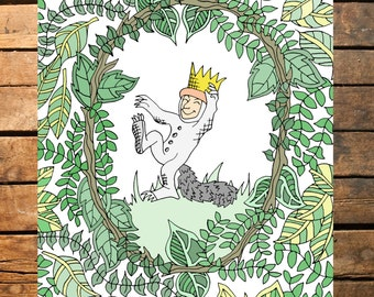 Where The Wild Things Are Illustrated Digital Print