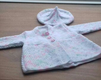 Coat and beret for a baby girl