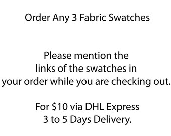 Order Any 3 Fabric Swatches