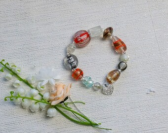 Bridesmaid gift, beaded bracelet, mother in law gift, gift for her, gift for sister, gift for mom, Christmas gift, thank you gift