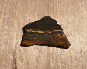 Scenic Tiger Iron lapidary slab polished 1 side