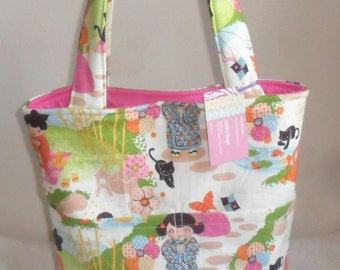 Large Aoi Has 2 Sisters Asian Tote Bag Purse