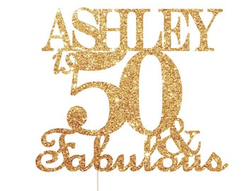 Fifty And Fabulous Cake Topper, 50 Cake Topper, 50 and Fabulous Cake Topper, 50 and Fabulous Decorations