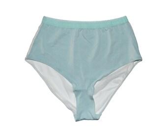 Lux High Waist Brief Underwear in Mint- PAST SEASON