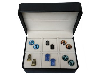 Doctor Who Cufflink Gift Set - 6 Pairs with a free gift box