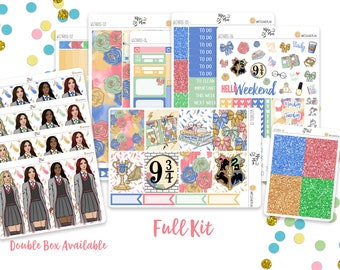 Wizards- A LA CARTE Vertical Weekly Kit planner stickers- Magic, Spells