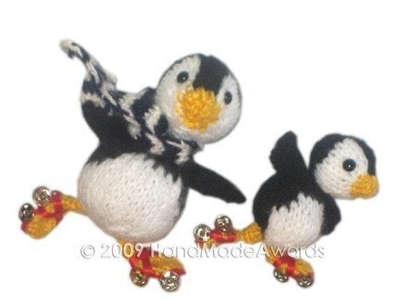 PINGUINOS PATINADORES Papi pinguino y su hijito patinando con