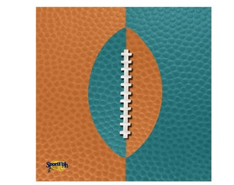 Orange and Teal Fan/Rally Terry Towel