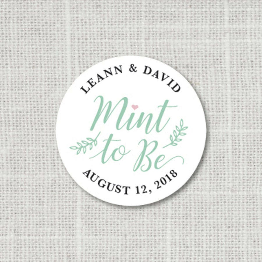 Mint To Be Wedding Stickers Wedding Favor Stickers Mint