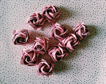 Origami roses, wedding, place cards, table decor