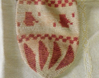 Vintage Crocheted Cotton Misers Purse with Tassle