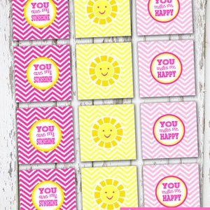 INSTANT DOWNLOAD - You Are My Sunshine - 2 inch circles/squares