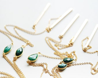 Lariat Necklace - Emerald
