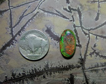 Monarch opal cabochon, synthetic opal, cultured opal, sterling opal cabochon, cabochon supplier, handcut cabochons, made in the USA