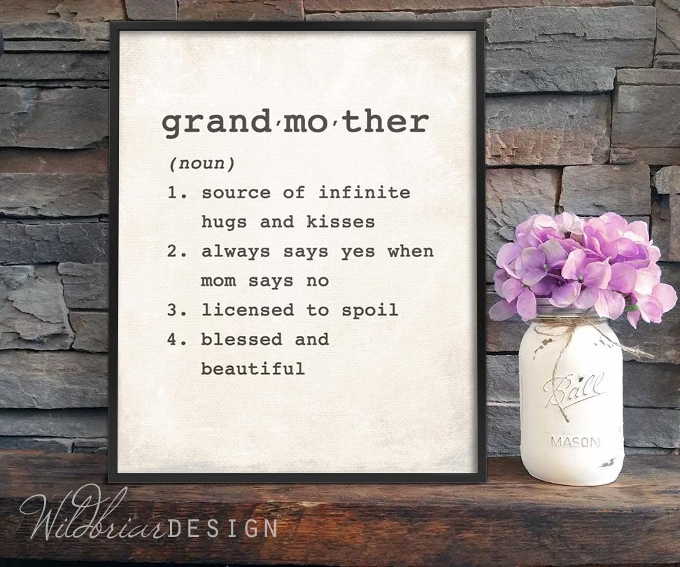Printable wall art grandmother dictionary definition zoom stopboris Image collections
