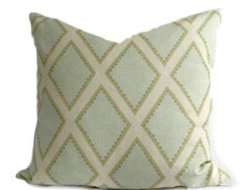 Sarah Richardson Pillow Cover Brookhaven, Celadon