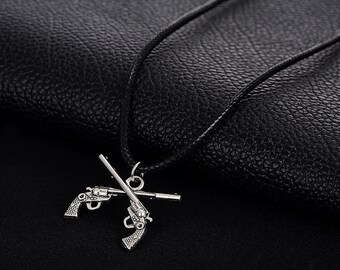 Brand Punk Vintage Necklaces For Men Jewelry Wholesale Tibetan Silver Gun Pendants & Necklaces Women Gifts