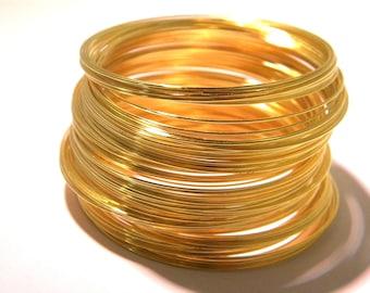 100 fil 0.6 mm -métal doré en 5.5 cm-bracelet à mémoire de forme- - AF