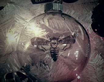Death's Head Moth  Large Glass Ball Ornament