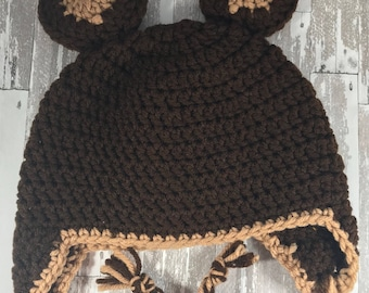 Infant Bear Hat and Diaper Cover