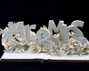 Custom Book Sculpture Wedding Centerpiece