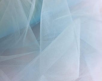 "Baby Blue Tulle Fabric 56"" Wide Per Yard"