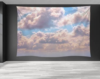 Sky tapestry Cloud tapestry blue sky Sky wall tapestry Blankets Wall , Clouds Tapestry, Home Decoration , Large Wall Tapestries